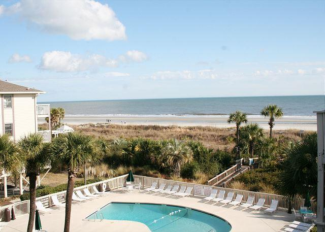 View from your Private Balcony - 1 Bedroom Villa with Spectacular Ocean Views, Oceanfront Pool & Baby Pool! - Hilton Head - rentals