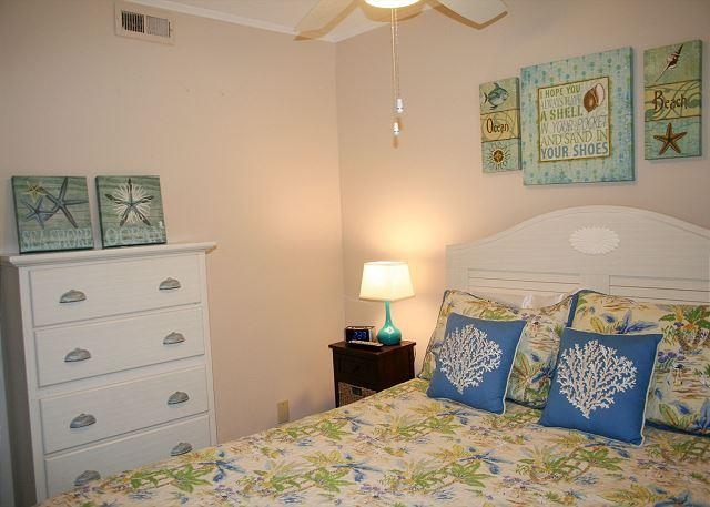 Master Bedroom with Queen bed & Flat Screen Tv - Oceanfront 1 Bedroom villa with Private Oceanfront Balcony! - Hilton Head - rentals