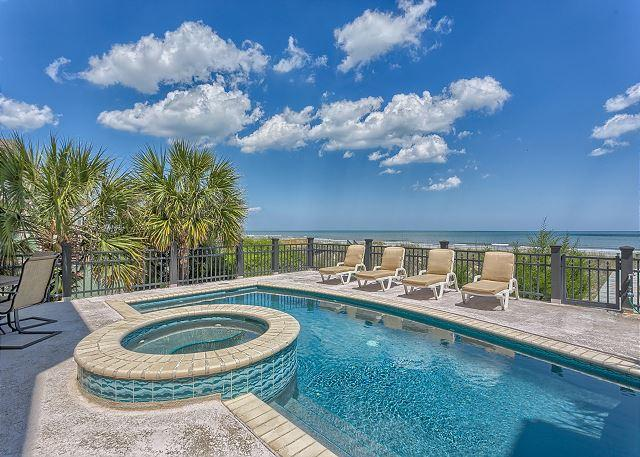 Oceanfront Pool & Spa - Exquisite 6 Bedroom Oceanfront Home with Pool, Spa, Billiard Room & Putt Putt - Utica - rentals