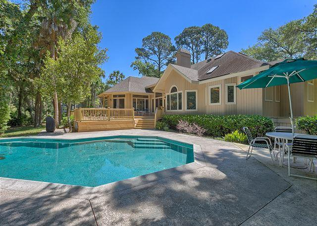 Private Pool measures 15' x 30' - Charming 4 Bedroom Home with Private Pool & just 4 Houses from the Beach! - Hilton Head - rentals