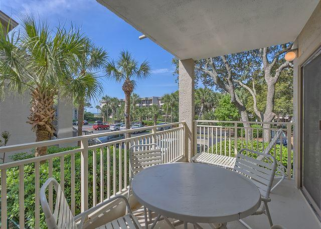 Private Balcony - 2 Bedroom Oceanside Villa with Oceanfront Pool, Baby Pool & Poolside Spa - Hilton Head - rentals