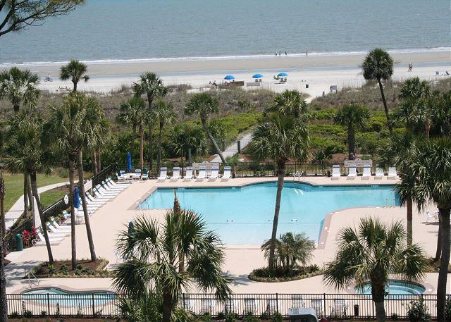 View from 536 Shorewood - 2 Bedroom Ocean View Villa with Spectacular Pool & Ocean Views! - Hilton Head - rentals