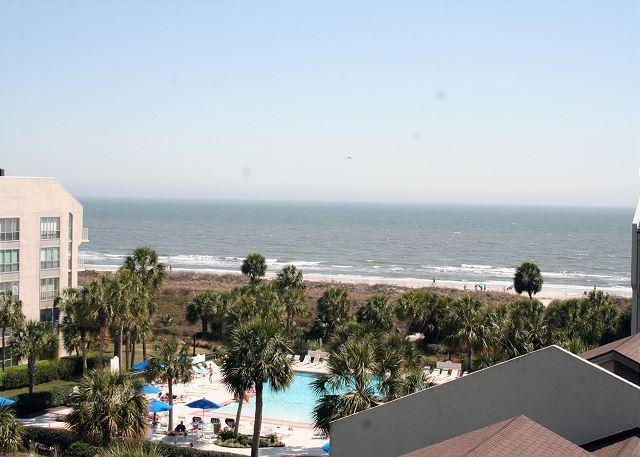 View from Private Balcony - Fabulous Ocean Views from this 2 Bedroom Villa in Shorewood - Hilton Head - rentals
