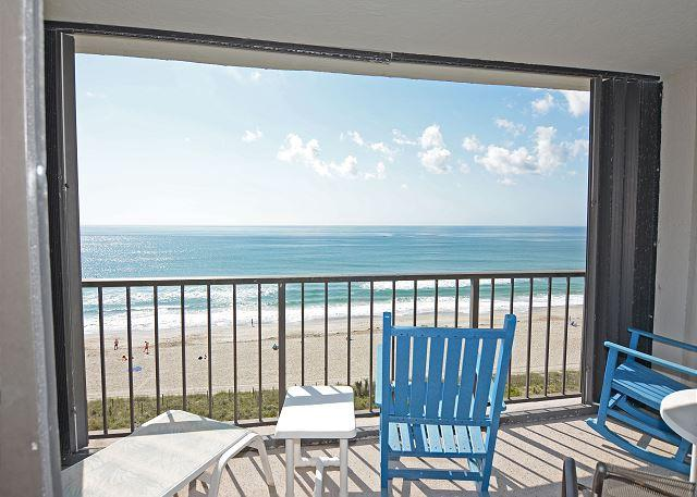 Station One 7C - Oceanfront Balcony - Station One - 7C Bowers - Oceanfront condo with community pool, tennis, beach - Wrightsville Beach - rentals