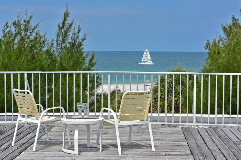 The view from your rooftop deck - Gulf Beach Place - Just a few steps from the Beach - Holmes Beach - rentals