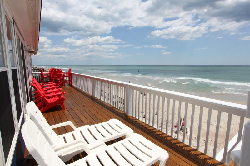 Top Floor Sundeck - Lowered Fall Rates!!  Direct Ocean Front Home - Surf City - rentals