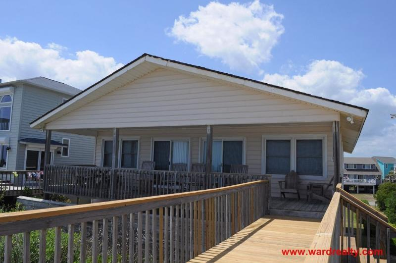 Oceanfront Exterior - Our Heels in the Sand - Surf City - rentals