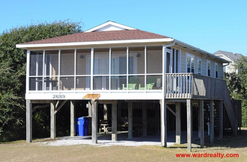 Happy Feelings Exterior - Great Screen Porch!! - Happy Feelings - North Topsail Beach - rentals