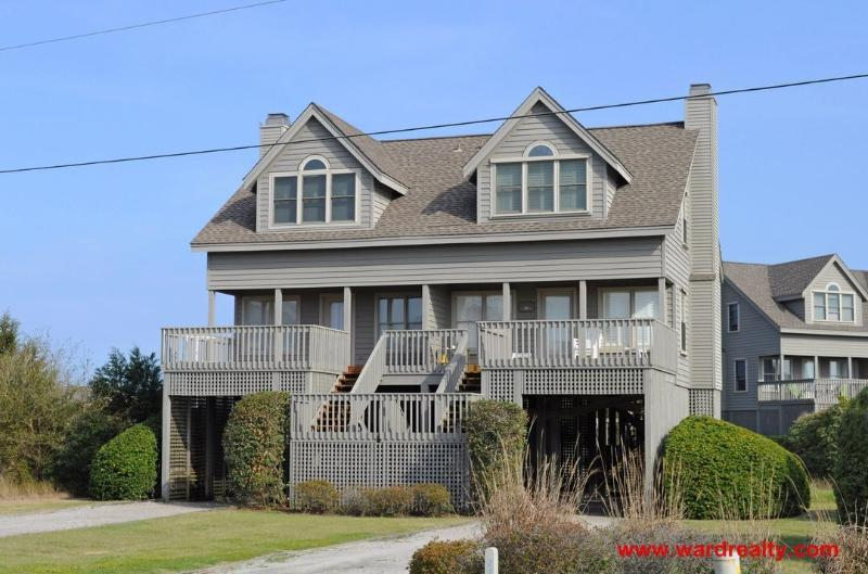 Summerwind Exterior - Great Sound View from Spacious Deck! - Summerwind - Topsail Beach - rentals