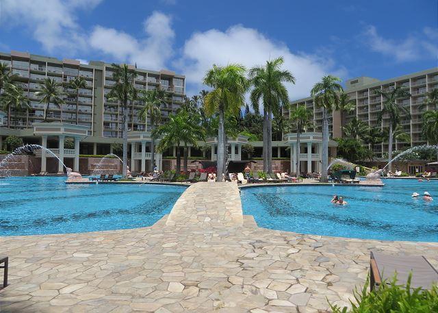 Kauai Marriott Pool use for Pali Kai guests - Pali Kai Cottage 17 A, Marriott Resort Use, AC, Ocean Bluff, DEC. SPECIALS! - Lihue - rentals