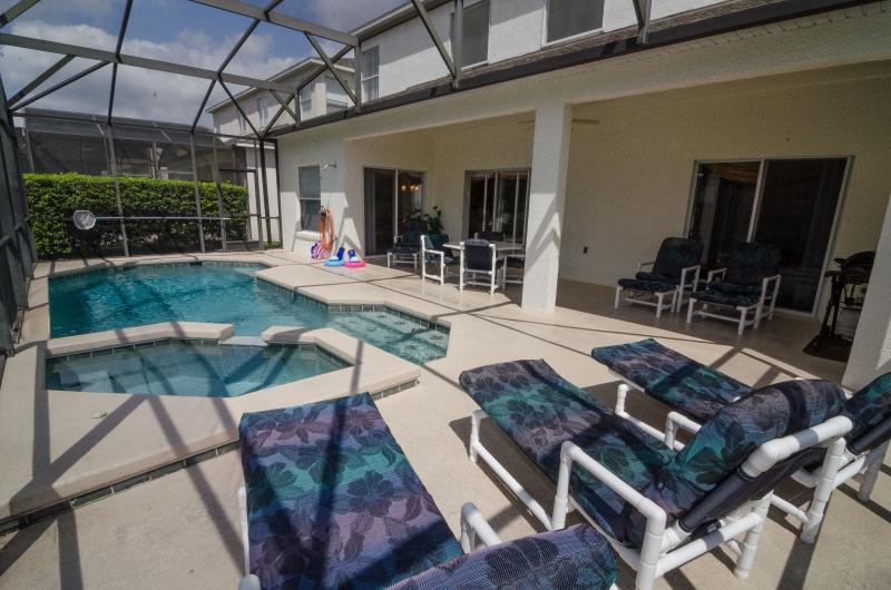 Pool area - Six bedroom, pet friendly, executive pool home - Kissimmee - rentals