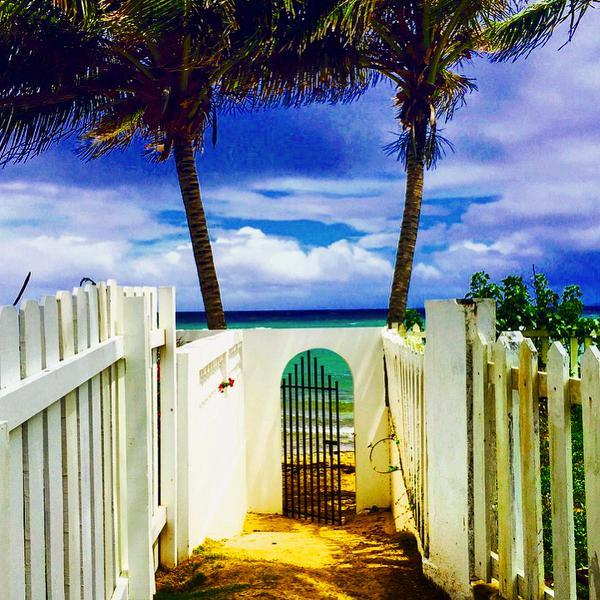 Your private gated walkway to the beach! - Bodhi Playa Azul - Pool Side Studio - Isla de Vieques - rentals