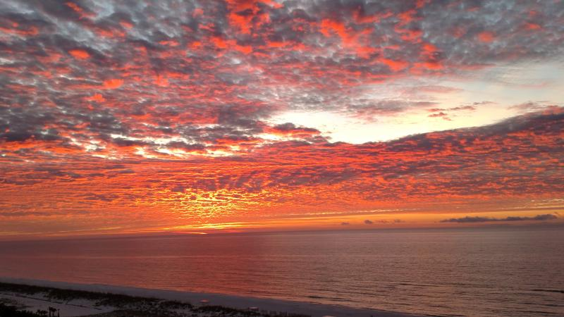 Spectacular sunsets from the 28 foot long balcony - Portofino Private Balcony- Super Beach Views - Pensacola Beach - rentals