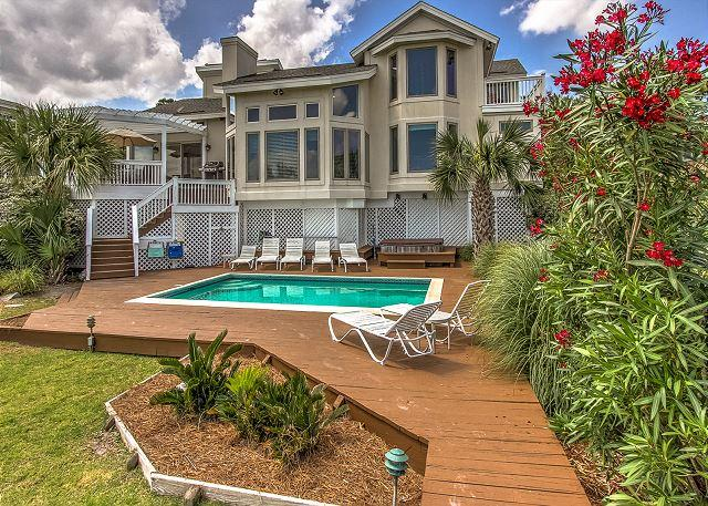 Exterior - 21 Heron Street-Oceanfront/Pool/Hot Tub- - Hilton Head - rentals