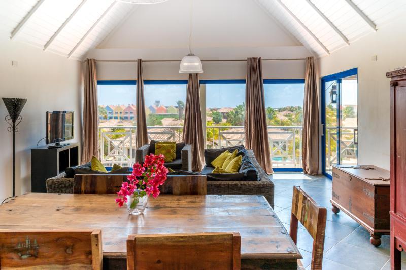 Seamlessly blending indoor and outdoor spaces; naturally well lit, cool, breezy. - Breezy Bonaire Waterfront Vacation Rental - Kralendijk - rentals