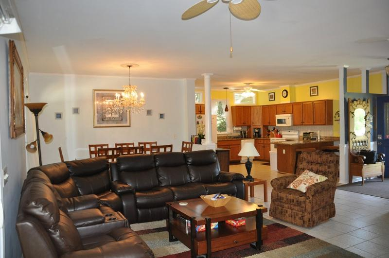 Living room 9ft ceiling /whole house with fans and central AC - Spacious 4BR/2BA just 5min to RB! Pets friendly - Rehoboth Beach - rentals