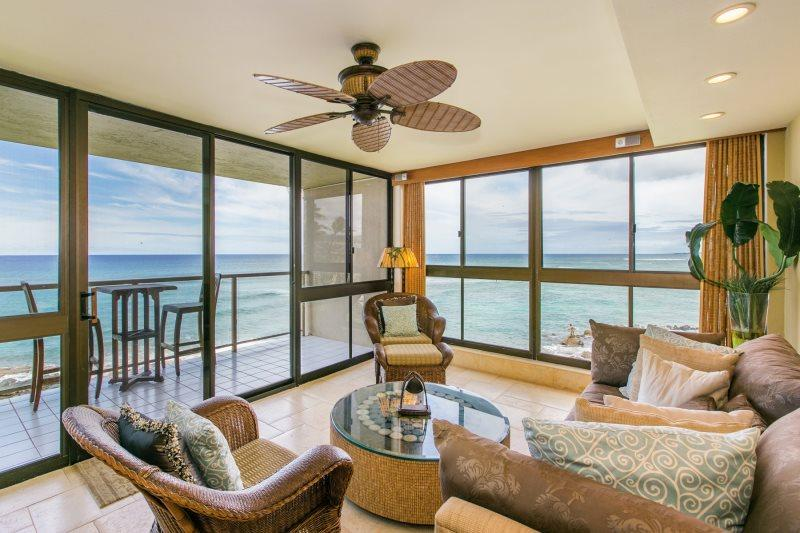 Corner Condo - one of the best views in Poipu. - Kuhio Shores 319-Gorgeous 2b corner condo ocean front with FREE mid-size car - Poipu - rentals