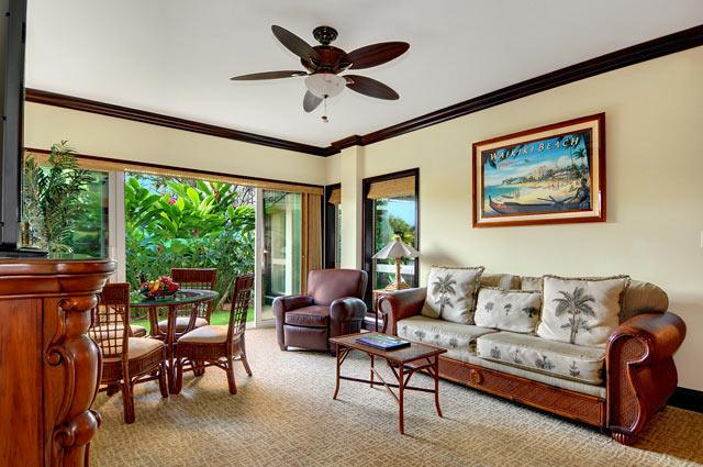 Living Room - Waipouli Beach Resort G103 - Kapaa - rentals