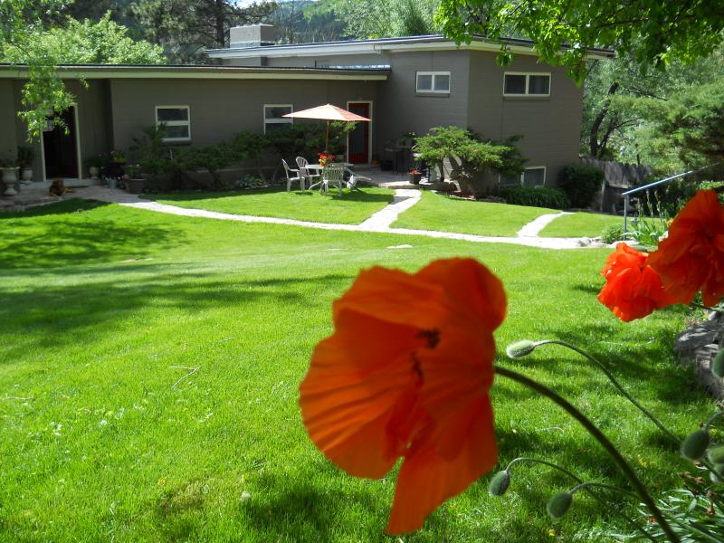 view from the street side looking down at the property. - Deadwood Vacation Rental - Deadwood - rentals