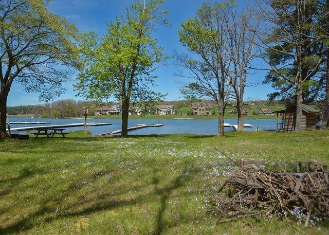 Yard - Affordable Lakefront Cottage - Swanton - rentals