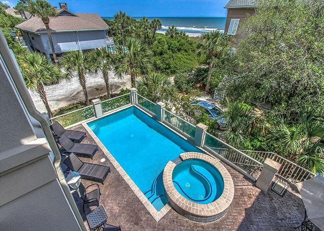 Pool/View - 18 Ibis Street-Oceanfront Views - Hilton Head - rentals