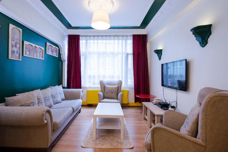 Living Room - Charming flat with 3 bedrooms and 3 AC - Istanbul - rentals