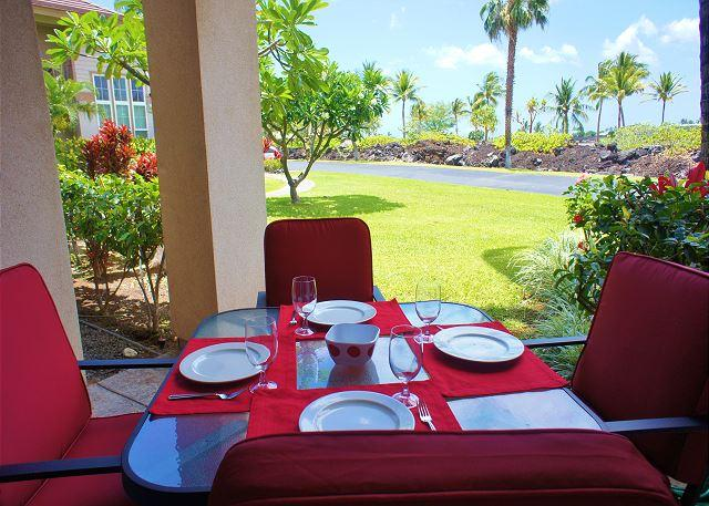 Covered lanai - Waikoloa Colony Villas 2403 - Waikoloa - rentals