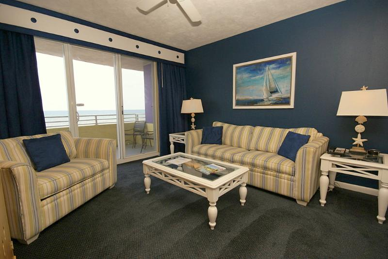 Ocean Front Living Room - Ocean Walk 1 Bedroom Unit Local Owner Manager - Daytona Beach - rentals