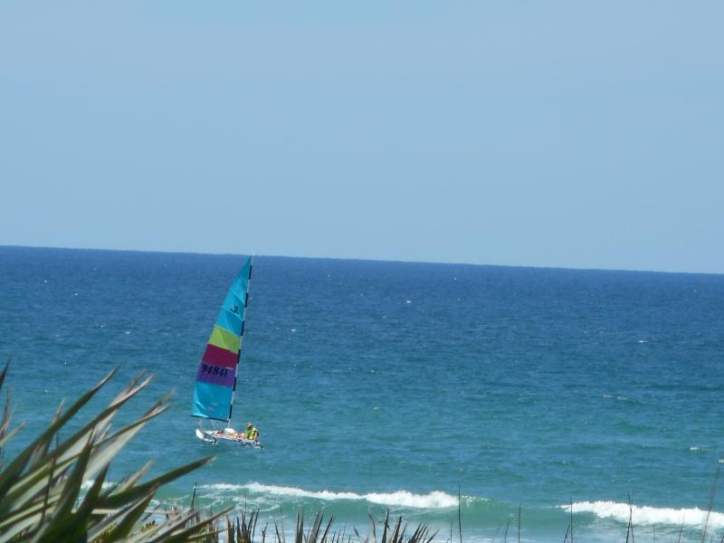 just a little boat sailing by - Direct Ocean Front Home - New Smyrna Beach - rentals