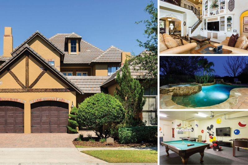 Indulge in Luxury   5,200 sq. ft Reunion Villa with LEGO Star Wars Theme Bedroom, Amazing Waterfall Pool & Outdoor Kitchen with Built in BBQ - Image 1 - Kissimmee - rentals