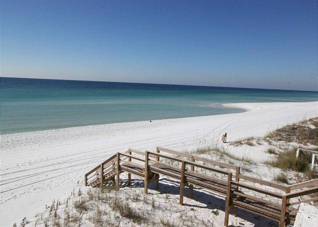 This is your view of one of Destin's most gorgeous beaches--Miramar Beach. - Gulf Sands East Unit 4 - Miramar Beach - Miramar Beach - rentals