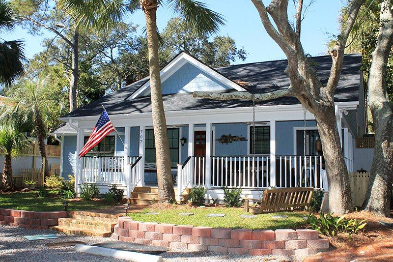 #707 2nd Avenue - Quiet and Secluded with Large Porches - Private Pool - FREE WiFi - Image 1 - Tybee Island - rentals