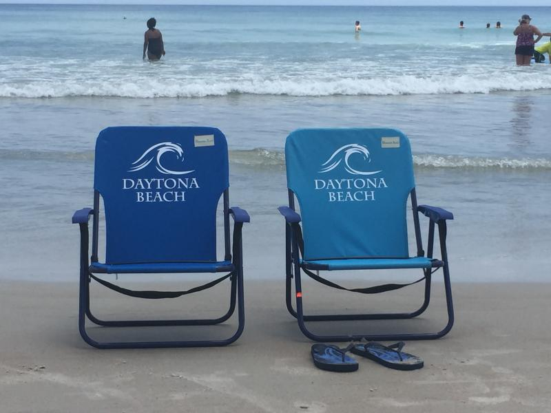100 yards from house.  We provide the beach chairs, toys and towels. - DAYTONA BEACH - 2 HOMES IN 1 - PET FRIENDY 4BR 2BA - Daytona Beach - rentals