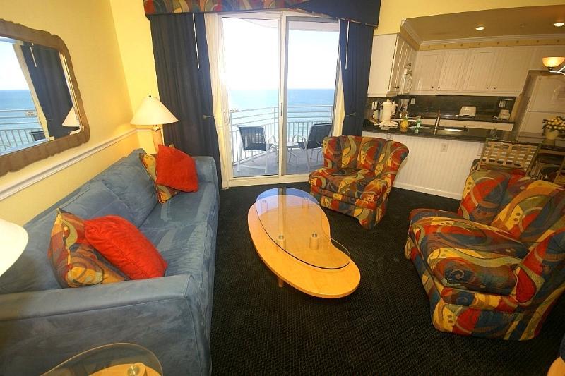 Living Room Looking Out to Ocean - Wyndham Ocean Walk Resort Local OWNER Manager - Daytona Beach - rentals