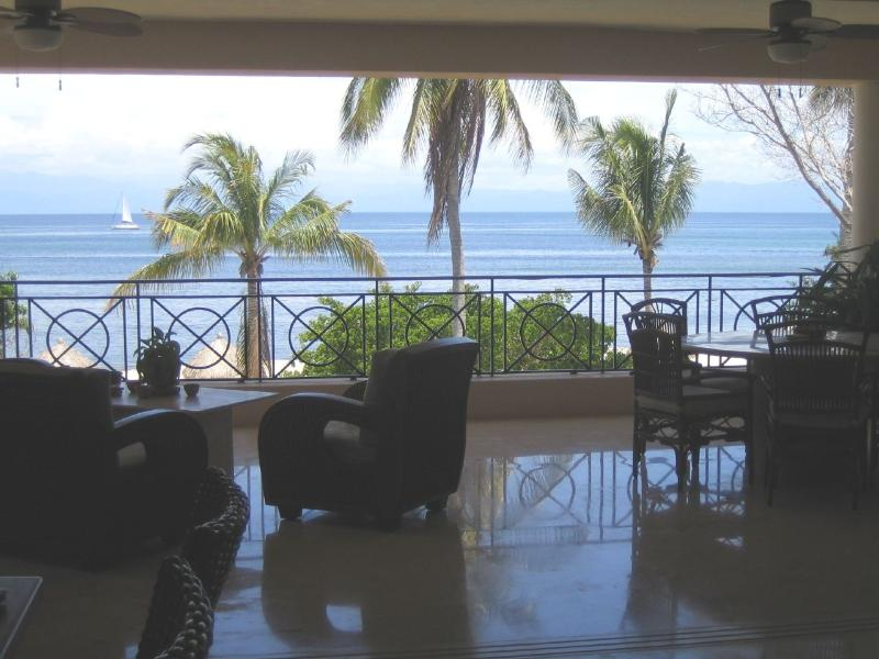 view from our patio - 3500 Sqft Oceanfront Condo within Punta Mita gates - Punta de Mita - rentals