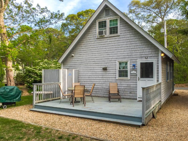 Deck off an d back of house - GIORP - Cute and Cozy Oak Bluffs Cottage, Spacious Deck,  Just over a Mile to Oak Bluffs Center - Oak Bluffs - rentals