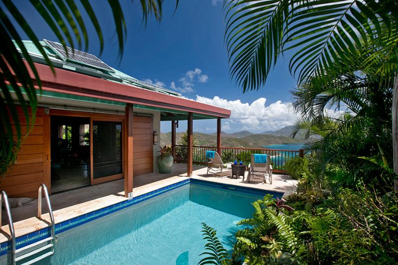 St. John's Most Romantic Villa - Solar-heated pool, complete privacy and more. - Mooncottage: St. John's Most Romantic Luxury Villa - Coral Bay - rentals