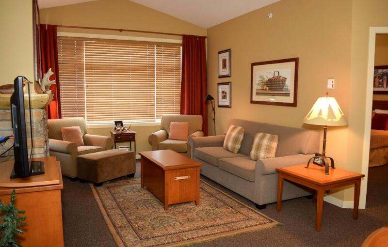 Watch a movie or read a book by the fireplace - Big White Sundance Resort 2 Bedroom Club Suite - Big White - rentals