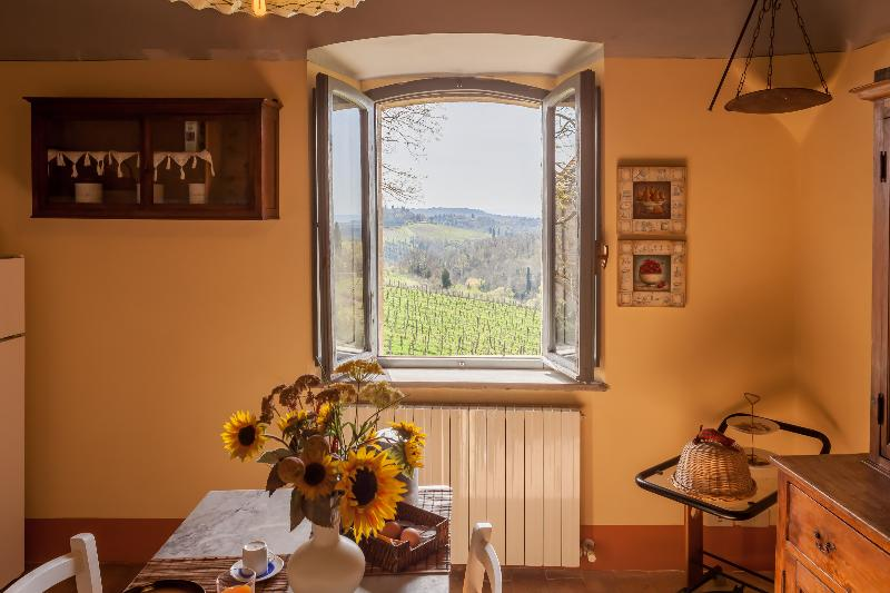 kitchen view - Hilltop Poolside 2 Bedroom Villa in Chianti - Gaiole in Chianti - rentals