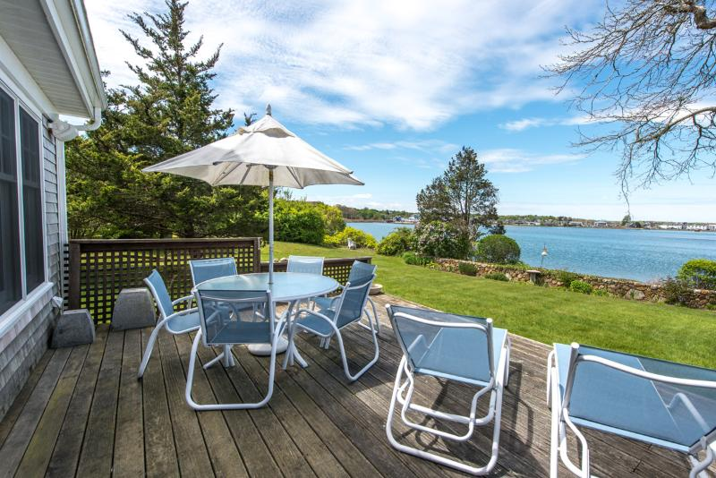 Waterfront Lagoon, View from Deck - MILLP - Waterfront on the Lagoon,  Charming Luxury Home with  Cottage Style Decor - Vineyard Haven - rentals