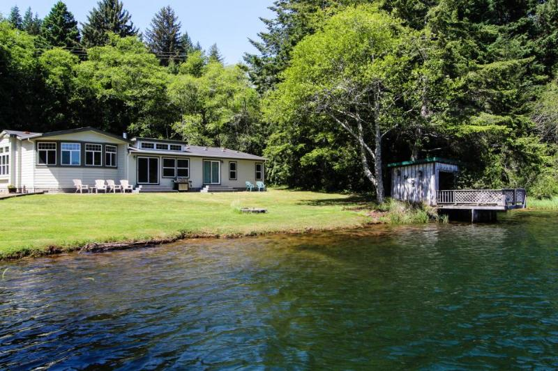 Spacious, waterfront, dog-friendly home w/ dock & private hot tub - Image 1 - Florence - rentals