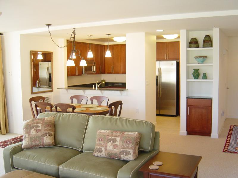 Great Room to Kitchen - Open: LUXURY CONDO - Ocean and Bay at Doorstep - Virginia Beach - rentals