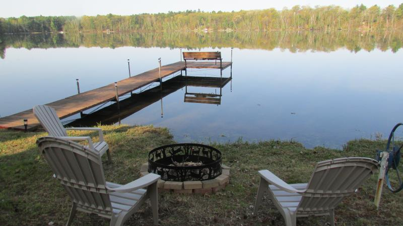 Private pier to enjoy sunsets or throw a line in. - A&M Northwoods Lake Retreat - Woodruff - rentals