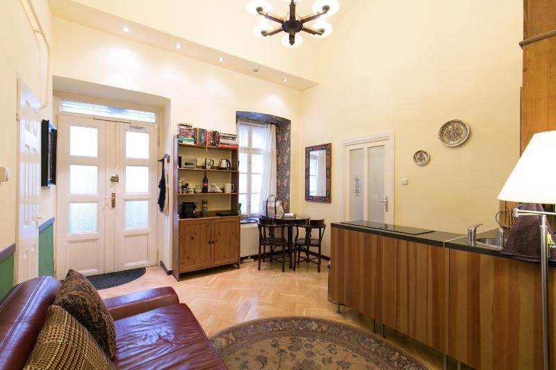 Living Room - Apt Olive, City Hall: CRUISE SPECIALS - Budapest - rentals