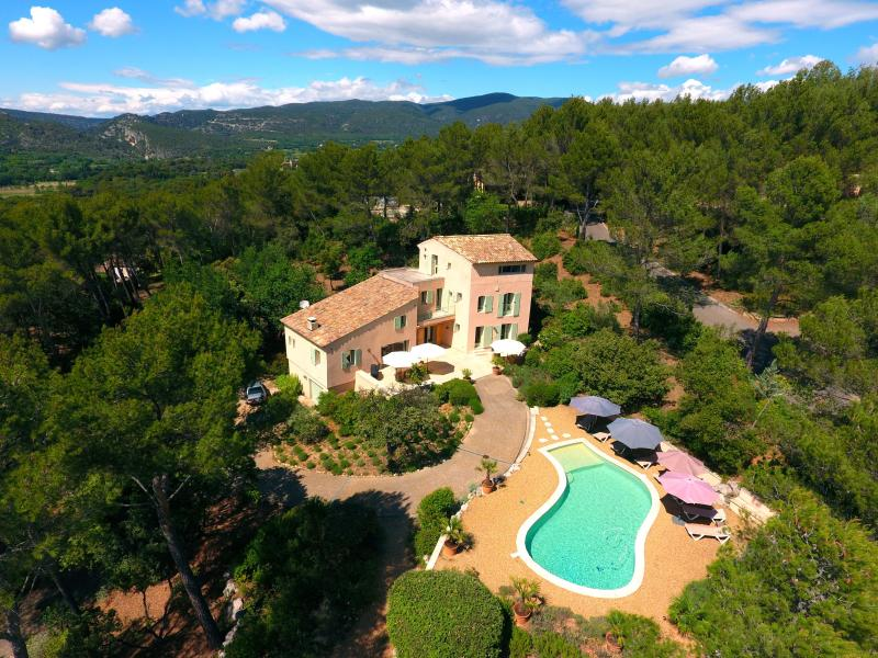 The house and its pool.  The forest  gives much shade and privacy. - Les Magnanarelles, 4 bedrooms, 8 people + 1 cot - Lourmarin - rentals