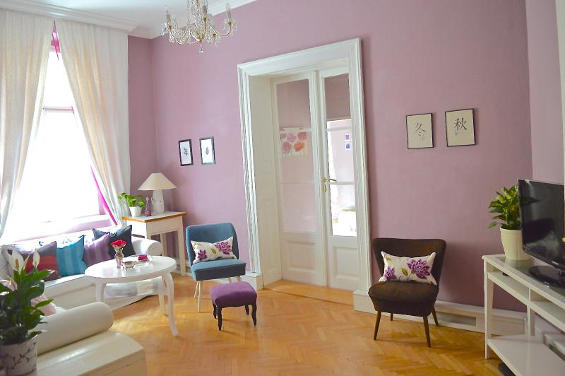 Spacious separated Living room. (Separate entrance from each bedroom) - SPECIAL OFFER feb/march-Elegance,style,space, Apt off Wenceslas square-BOOK NOW! - Prague - rentals