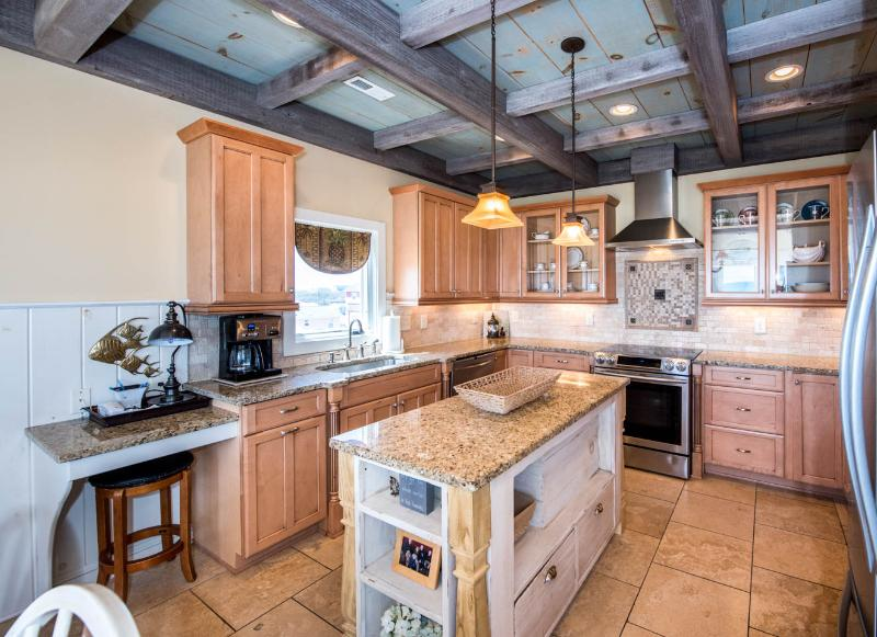 Upscale kitchen with everything you need for preparing that special meal. - Luxury 4 Bedroom Beach House with private pool!! - North Topsail Beach - rentals