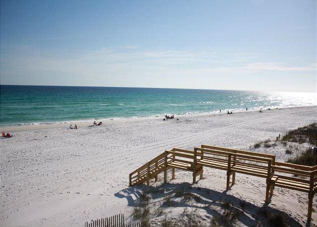 This is your view from all three levels of this classic Florida townhouse--right on one of the most beautiful stretches of beach in the world. - Gulf Sands East Unit 5 - Miramar Beach - Miramar Beach - rentals