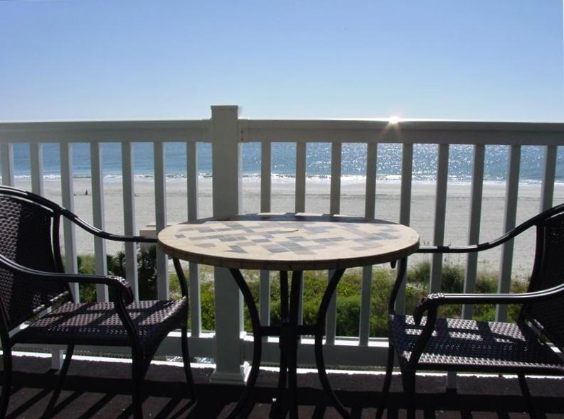 Enjoy sitting on the balcony and soaking up the oceanfront view. - Shore Drive - Beautiful Oceanfront 2BR/2BA Condo - Myrtle Beach - rentals