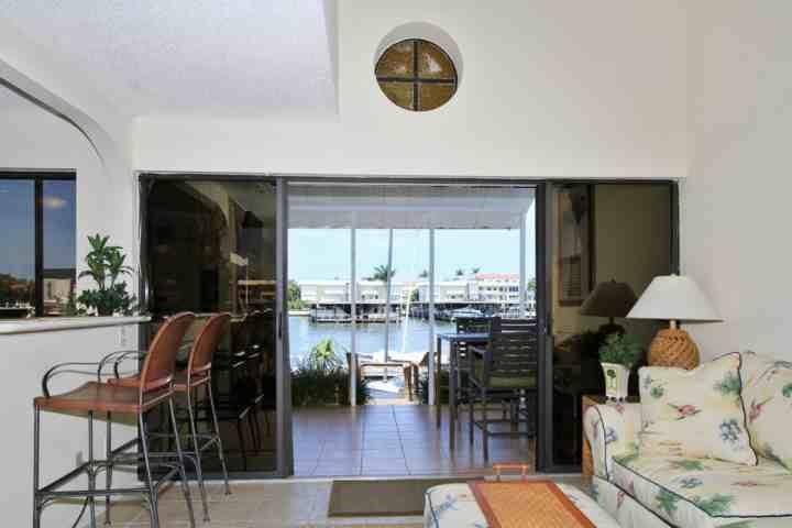 Incredible waterfront view of Naples Bay from private lanai w/direct access off main living area (automatic storm shutters on sliders)!! - Recently Redecorated Water Front Townhouse with Private Lanai Views of Naples Bay! - Naples - rentals